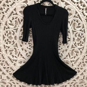 FREE PEOPLE Jolene Rib Knit Mini Dress S